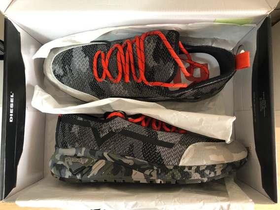 Tênis Diesel Camo Multicolor Army Skb S-kby Sneakers Tam 43