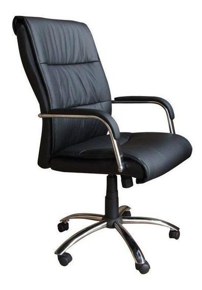 Cadeira de escritório Pelegrin 107 ergonômica con estofado do couro sintético