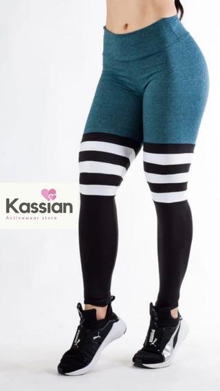 Leggings Sock Deportivo Dama Microfibra Colombiana Ligera