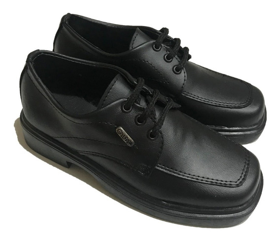 Zapato Escolar Bautismo Vestir Acordonado Color Negro A.612