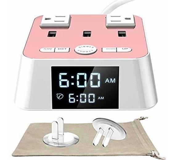 Reloj Despertador Con Cargador Usb