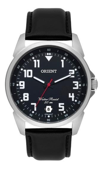 Relógio Orient Masculino Mbsc1031 P2px Preto Couro Oferta