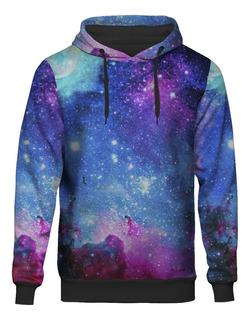 Blusa Moletom Capuz Galaxia Tumblr Universo Nebulosa Galaxy