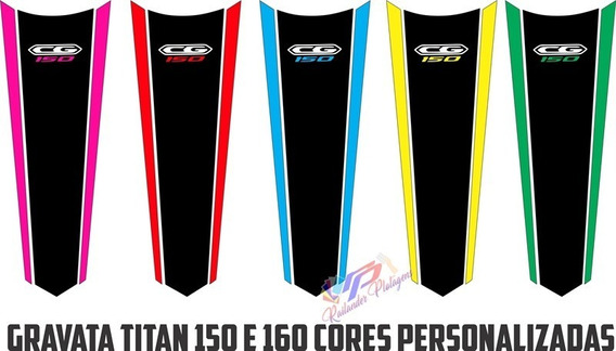 Adesivo Gravata Titan Fan 150 160 Cores Personalizadas