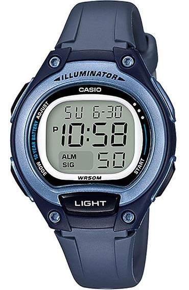 Relógio Casio Unissex Iluminator Lw-203 2avdf Azul Digital
