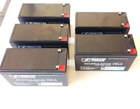 5 Bateria 12v 7a Selada Acumulador Fabricação Nacional