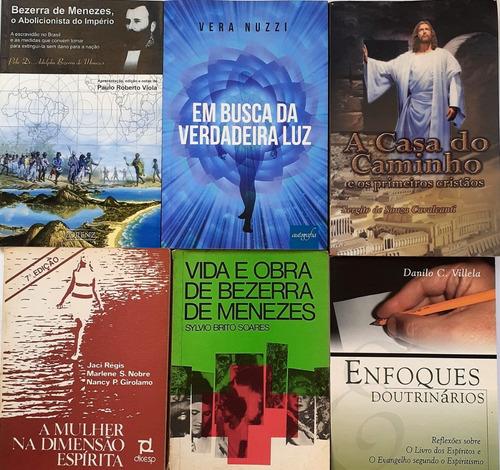 6 Livros Espiritas- Bezerra De Menezes+a Casa Do Caminho+4