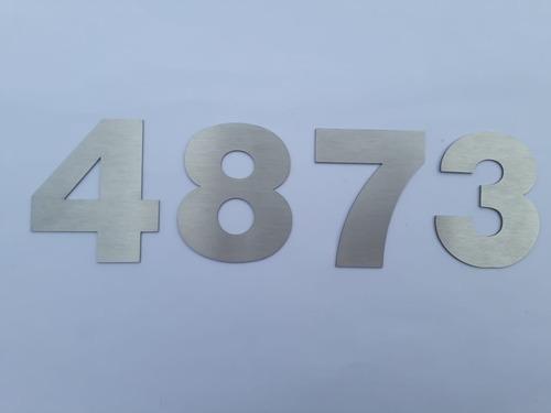 Números Dirección Frente De Casa Acero Inoxidable 20cm