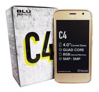 Blu C4 Con Forro + Protector Nuevos Garantia 30dias 50vrds