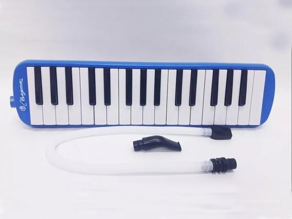 Flauta Armonica Melodica 32 Notas Azul Magma