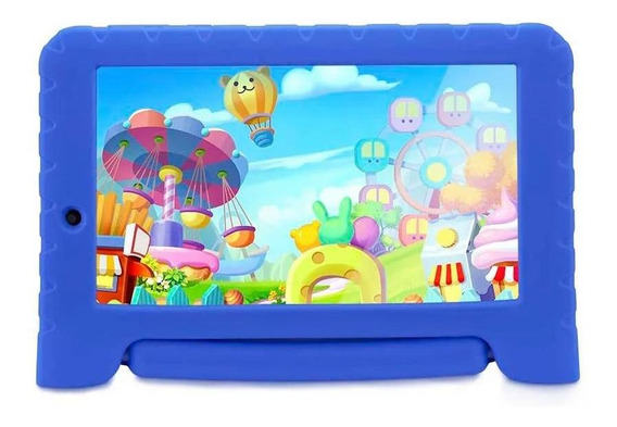 Tablet Multilaser Kid Pad Android 4.4 8gb Wi-fi Azul Nb278