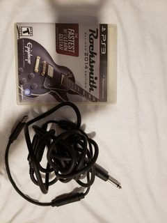 Rocksmith Ps3 Y Cable Para Guitarra O Bajo