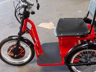Triciclo Motor Elétrico Suporta 100kgs Modelo Novo