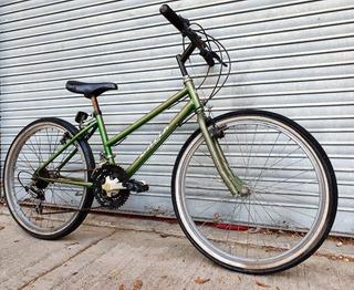 Mountain Bike Verde Gama Rodado 24 15 Cambios Buen Estado.