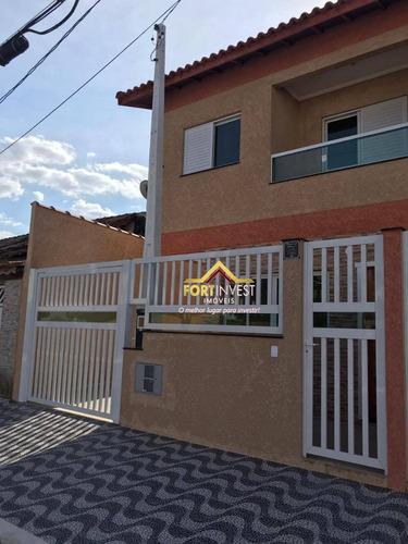 Apartamento Triplex Com 2 Dormitórios À Venda Por R$ 380.000,00 - Aviação - Praia Grande/sp - At0004