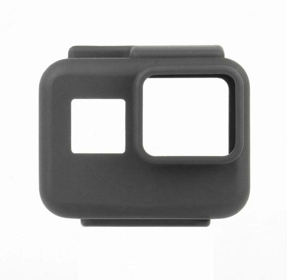 Capa Case De Silicone Gopro Hero 5, 6 7 Black E 2018