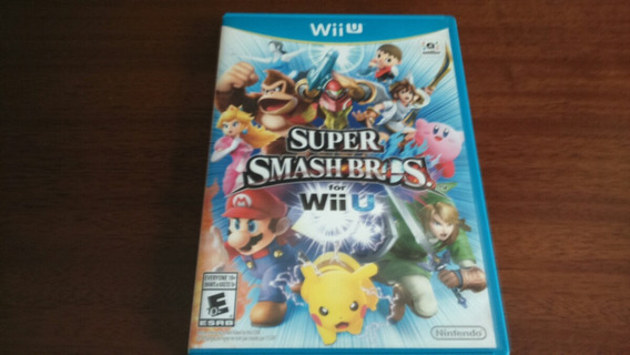 Smash Bros Wii U Mídia Física Seminovo Americano - Promoção!