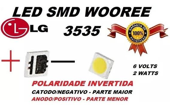 20 Leds LG 6v 2w 3535 Wooree Polaridade Invertida