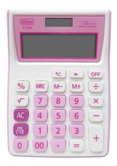 Calculadora Tc04 Rosa Tilibra