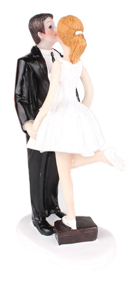 Figura De Pastel Pareja De Novios Blanco Negro,decoracion