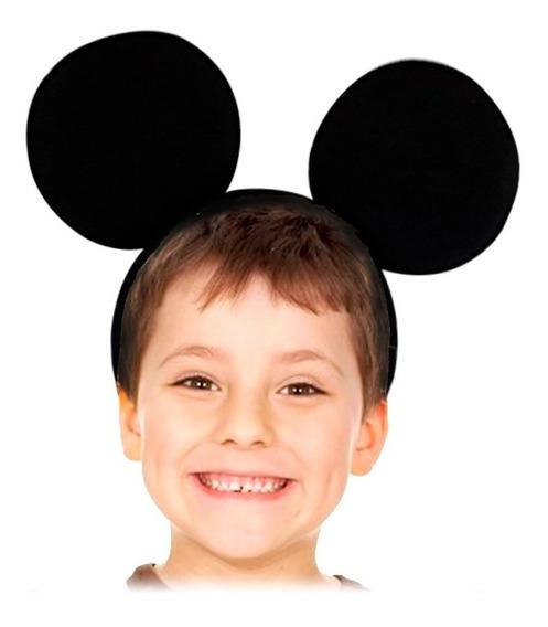 12 Diadema Orejas Tela Mickey Mouse Minnie Fiesta Infantil