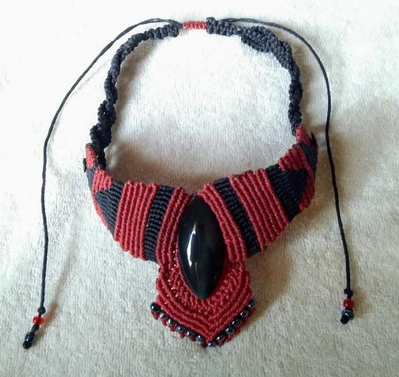 Collar Con Obsidiana Arcoiris