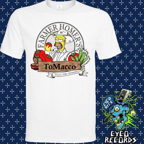 Imagen 1 de 3 de Homero - Tomacco - Animacion - Polera- Cyco Records
