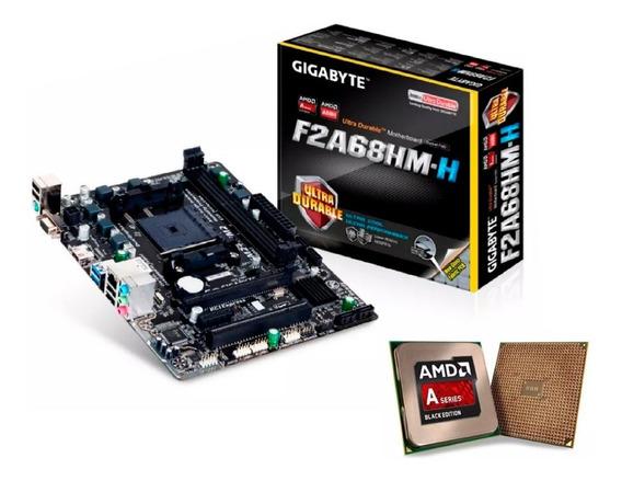 Kit Gamer C/ Apu Amd A8 8650b Quadcore + Placa Mãe Fm2