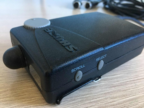 Fone De Ouvido Shure + Amplificador Para O Fone