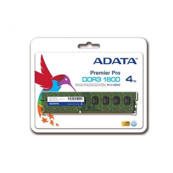Memoria Adata Ddr3 4gb 1600 Mhz