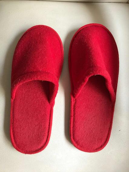 Pantuflas En Color Rojo Talle 38 Mínimo Uso Muy Buen Estado