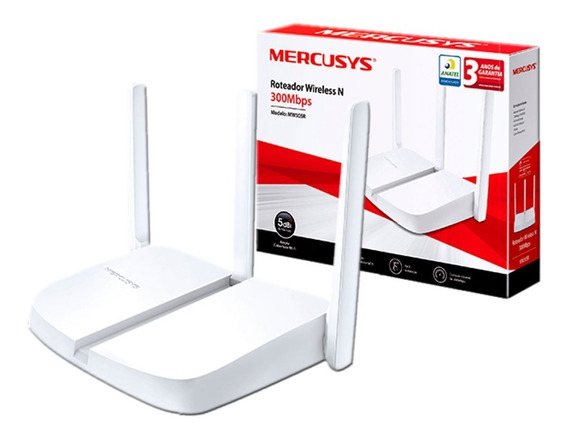 Router Wifi Mercusys Mw305r Tp-link 300mbps 3 Antenas Pc
