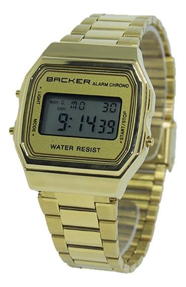 Relógio Masculino Backer Digital 15000475m - Dourado