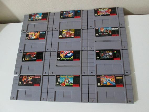 12 Jogos De Super Nintendo Americanos (originais)