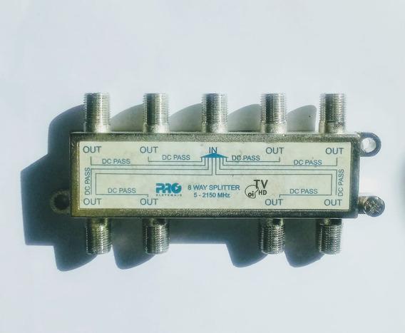 Amplificador 30db + Divisor 8 Saidas Tv + Antena 1040lte
