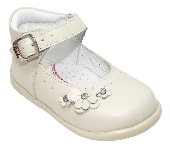 Zapatos Niña Marca Kinder 3947 Niña Color Hueso 13 Al 14