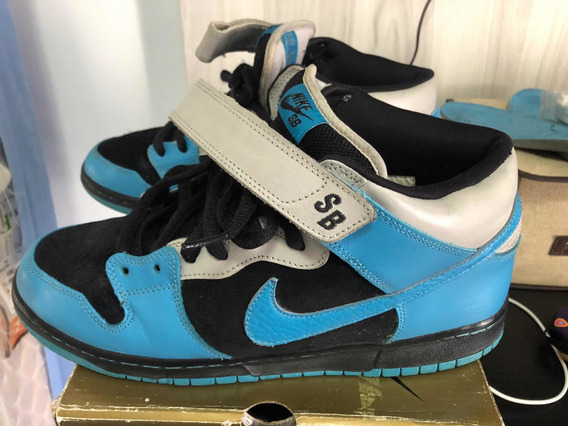 Tênis Nike Dunk Sb Aqua Raro Us 11 / Br 43 Skate