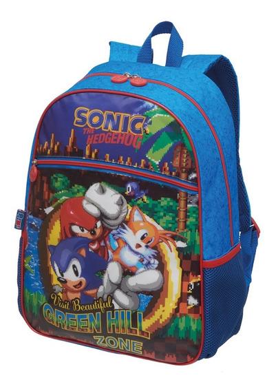 Mochila Infantil Sonic Green Escolar Oficial Novidade 2020