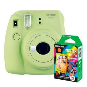 Câmera Instantânea Instax Fujifilm Mini 9 Lima + Filme 10