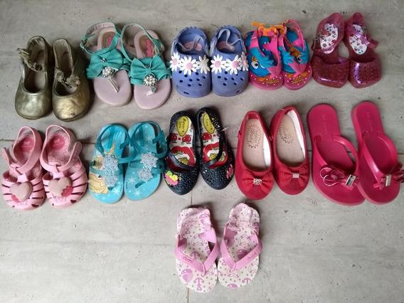 Lote Com 11 Sapatos De Menina