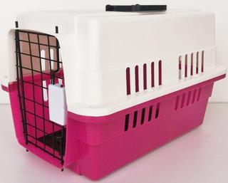 Transportadora Perros Puerta Metalica Chica 45 X 28 X 32