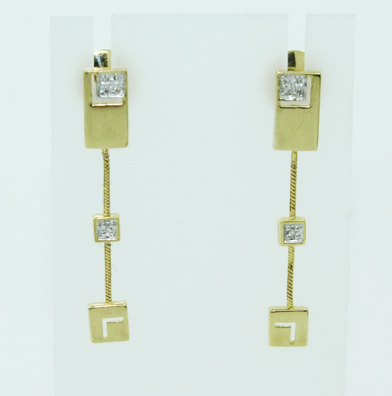 Pocao2005 Brinco Ouro 18k Diamante Vivara 12x S/j Ft/gt B838