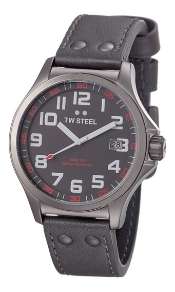 Tw Steel Pilot Grey Dial Titanium Pvd Stainless Steel