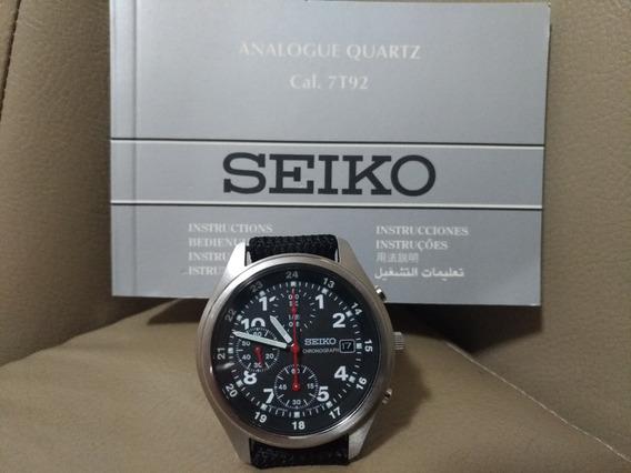 Fliegerchronograph 1/20s Seiko Coleção Ano 2002 S/uso