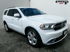 Dodge Durango Limited V6 3.6l Ta A/ac Blanco 2014