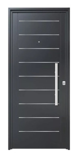 Puerta Exterior Doble Chapa Inyectada 80 Con Apliques Atex