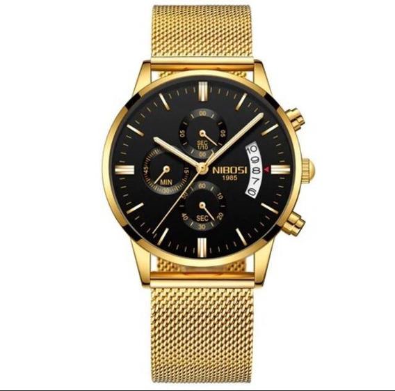 Relógio Nibosi Original Dourado 1985 Ante Risco Prova D