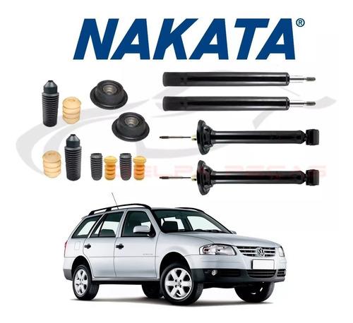 Imagem 1 de 5 de Kit 4 Amortecedor Nakata Diantei + Traser + Kit Parati G3 G4