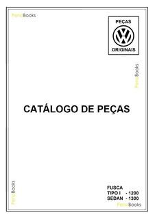 Catálogo Peças Volkswagen Fusca 1200 1300 - Edição 1965