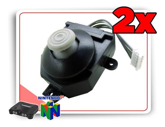 Kit 2 Analogicos Para Controle Nintendo 64 Estilo Gamecube